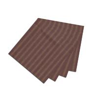 """Tea Dye Stripes with Red Fabric Napkin 20""""W x 20""""L"""