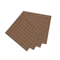 """Green and Warm Brown Plaid Fabric Napkin 20""""W x 20""""L"""