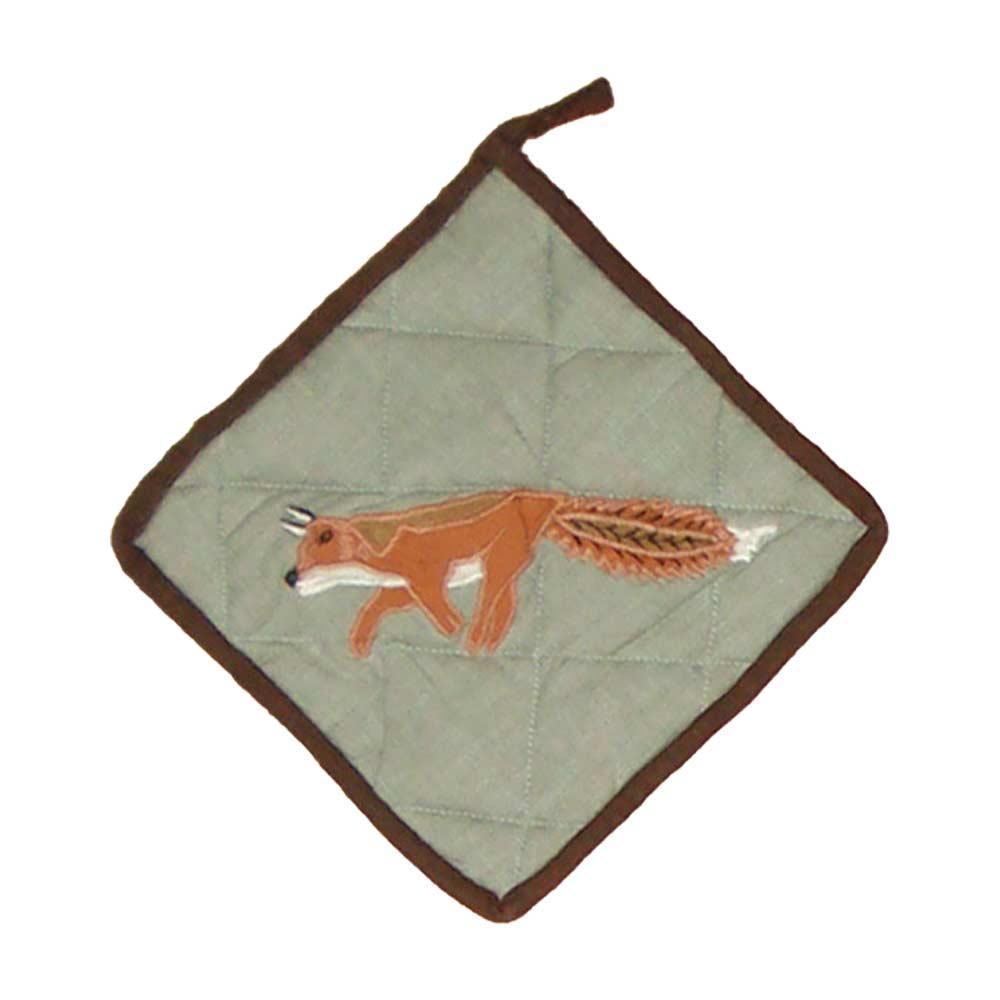 """Fox Hunt Pot Holder 8""""W x 8""""L"""