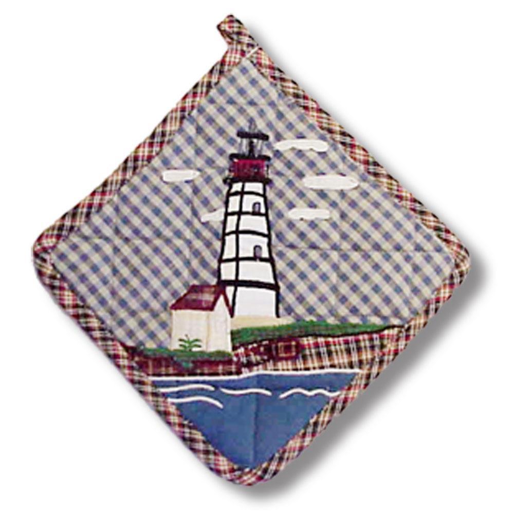 """Lighthouse by bay Pot Holder 8""""W x 8""""L"""