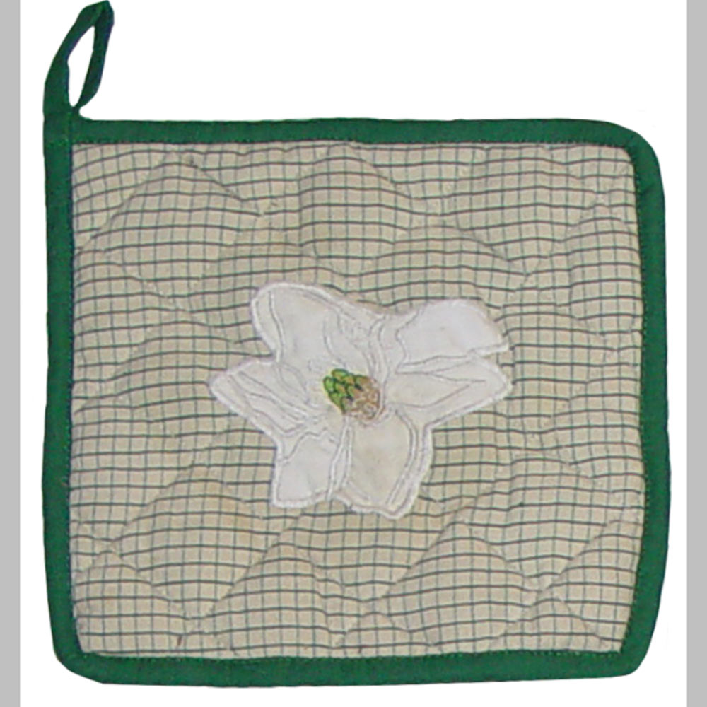 "Magnolia Blossoms Pot Holder 8""W x 8""L"