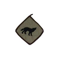 """Wolf Trail Pot Holder 8""""W x 8""""L"""