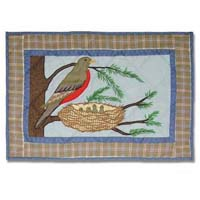 "Songbirds Place Mat 13""W x 19""L"