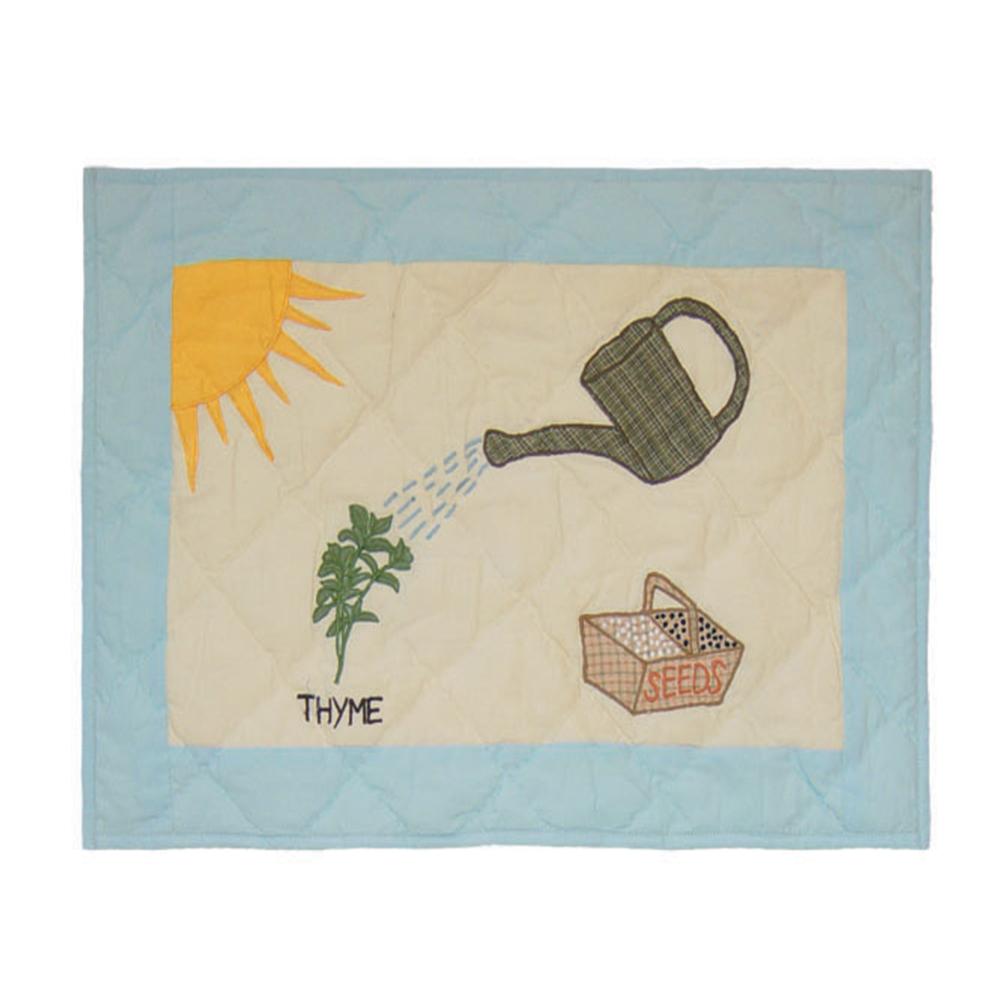 """Herb Garden Place Mat 13""""W x 19""""L"""