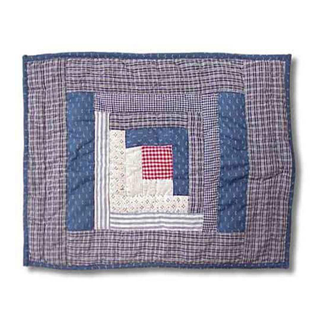 "Sail Log Cabin Place Mat 13""W x 19""L"