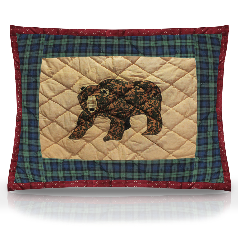 "Cabin Bear Pillow Sham 27""W x 21""L"
