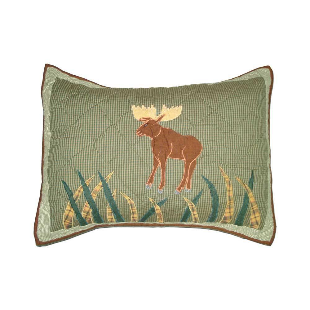 "Moose Pillow Sham 27""W x 21""L"