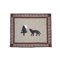 """Wolf Trail, Wolf, Pillow Sham 27""""W x 21""""L"""
