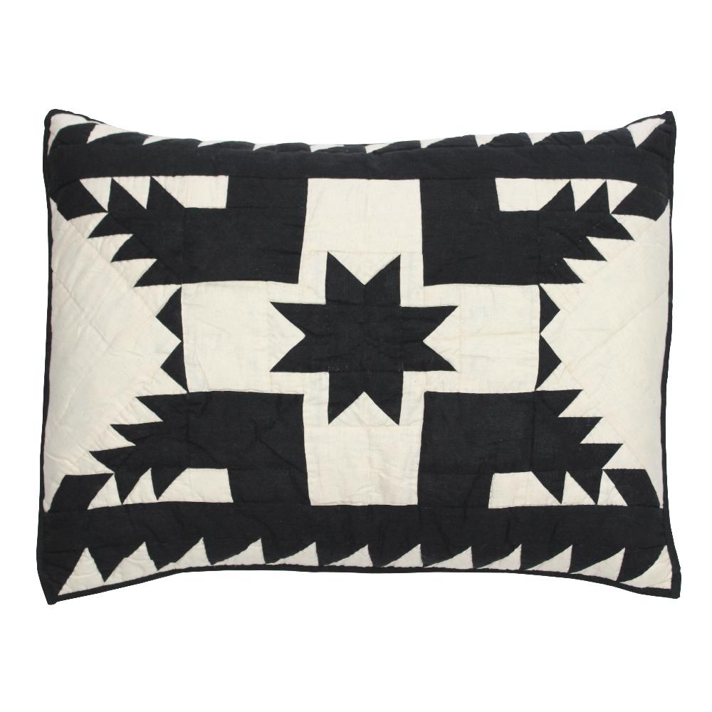 "Coal Feathered Star Pillow Sham 27""W x 21""L"