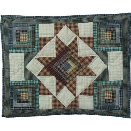 """Cottage Star Pillow Sham 27""""W x 21""""L"""