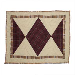 "Pinecone Trail Pillow Sham 27""W x 21""L"