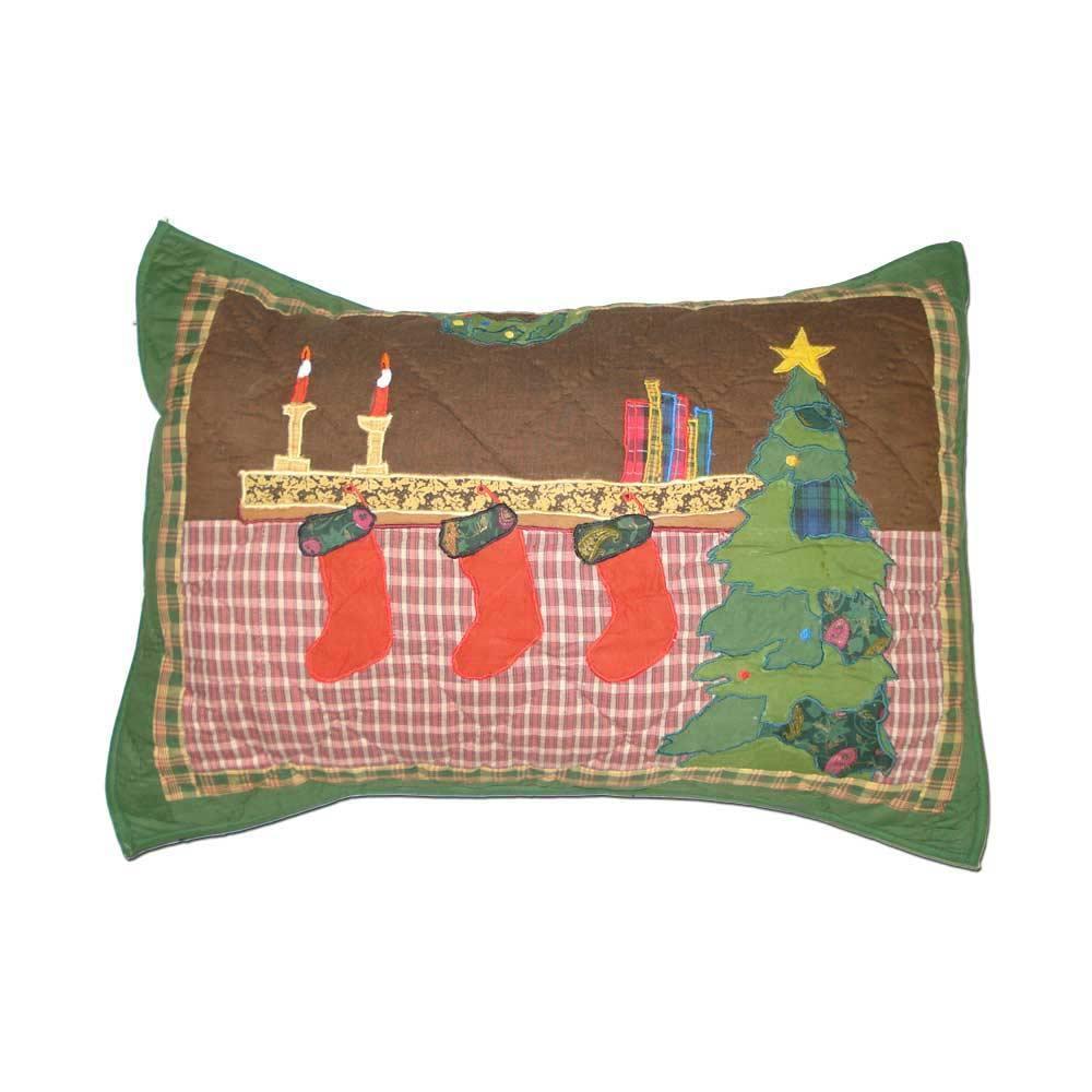 """Santa by the Fireside Pillow Sham 27""""W x 21""""L"""