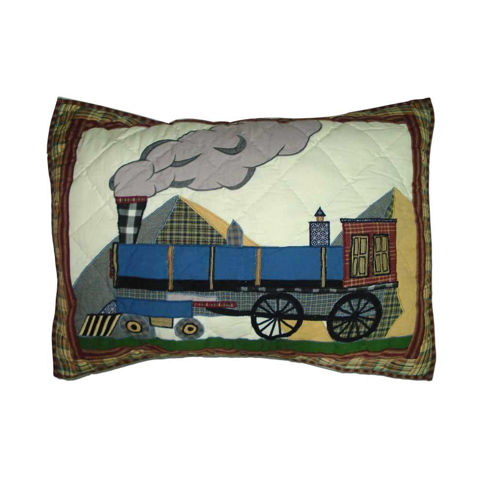 """Train Pillow Sham 27""""W x 21""""L"""