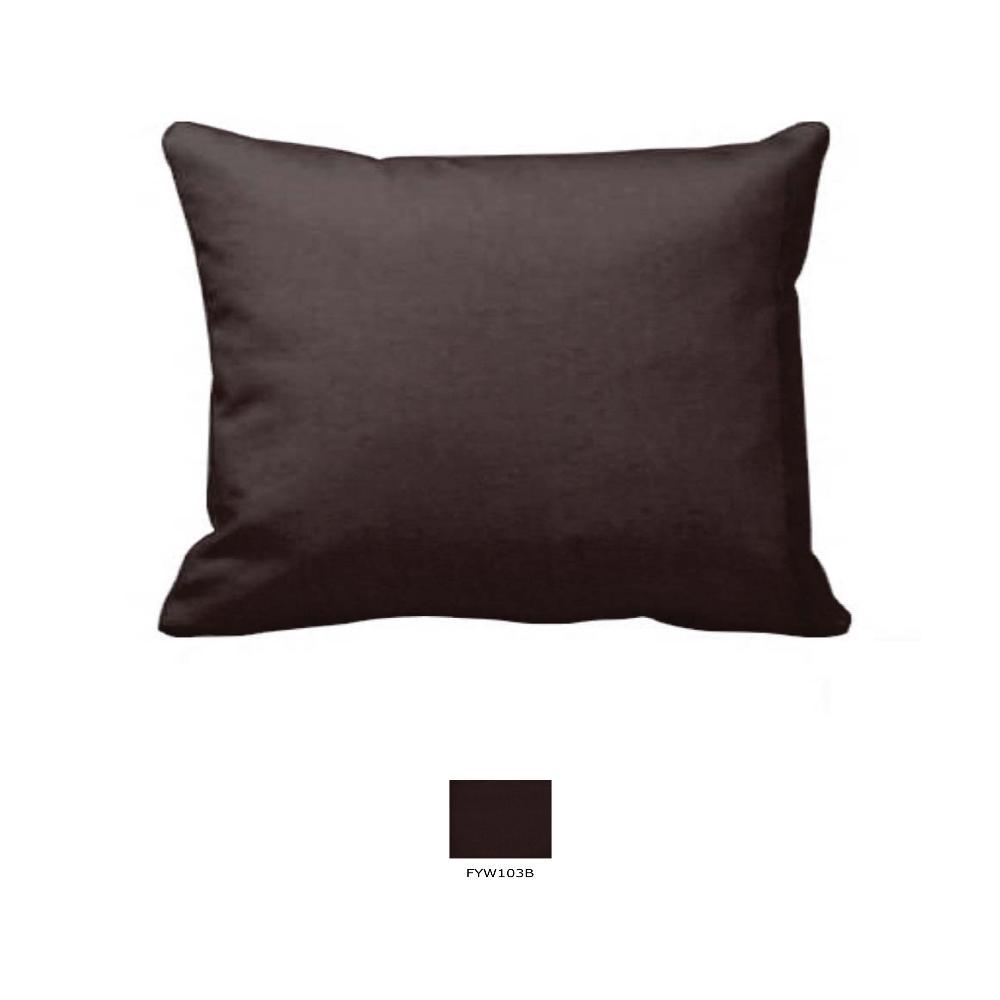 "Chocolate Brown Chambray Pillow Sham 27""W x 21""L"