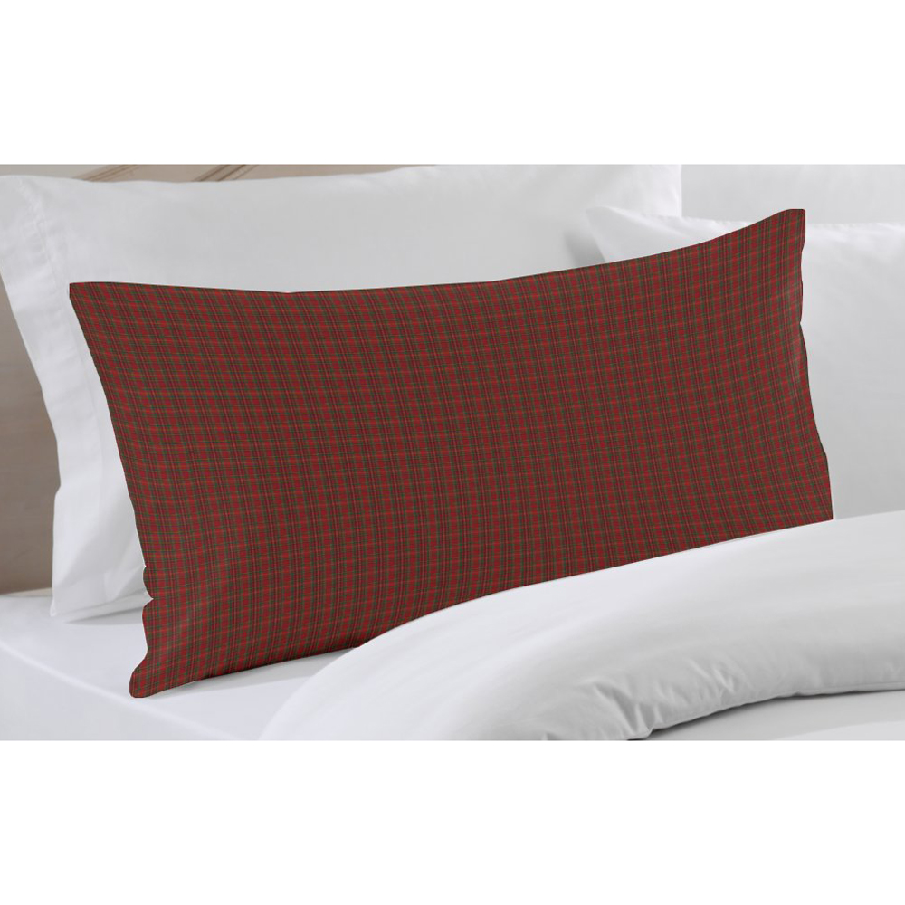 "Red Check Plaid Pillow Sham 27""W x 21""L"