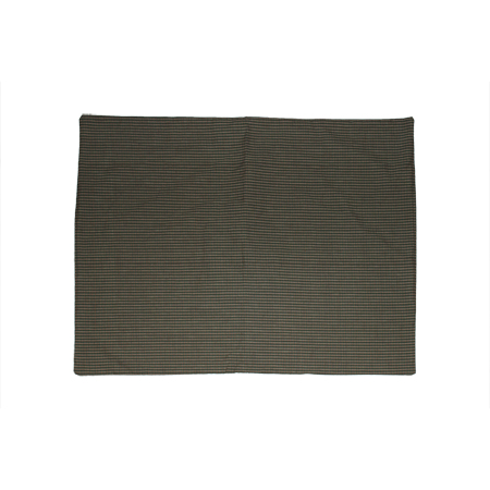 "Hunter Green and Tan Check,Old Pillow Sham 27""W x 21""L"