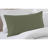 "Hunter Green and Tan Check Pillow Sham 27""W x 21""L"