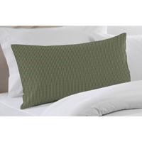 "Hunter Green and Tan Check Pillow Sham 27""W x 21""L"