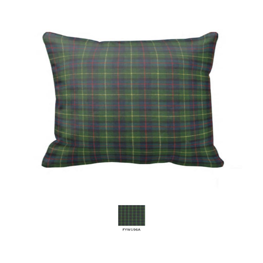 """Green Tartan Plaid Pillow Sham 27""""W x 21""""L"""