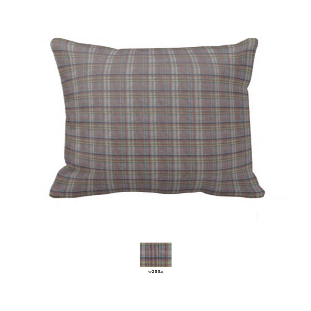 """Red Lines and Off White Plaid Pillow Sham 27""""W x 21""""L"""