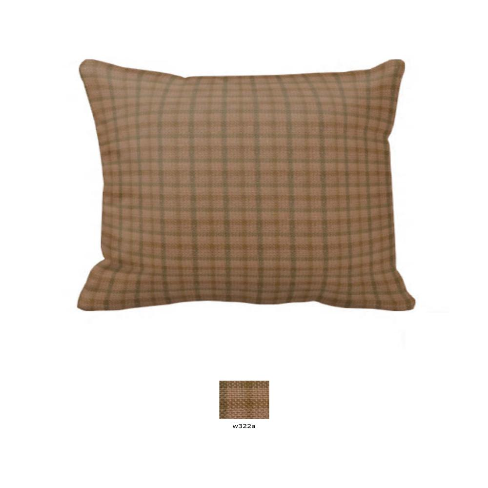 "Pale Brown Window Pane Check Pillow Sham 27""W x 21""L"