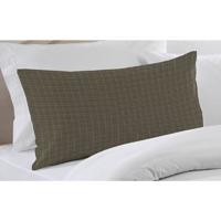 "Sage Green Plaid plaid Pillow Sham 27""W x 21""L"