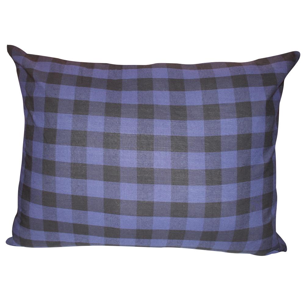 "Blue and Black Twill Buffalo Check,fabric pillow shams 21""x27"", standard"
