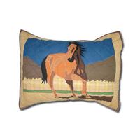"Wild Horses Pillow Sham 27""W x 21""L"
