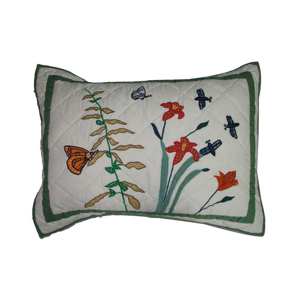 "Wildflower Pillow Sham 27""W x 21""L"