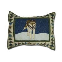 """Wolf Pillow Sham 27""""W x 21""""L"""