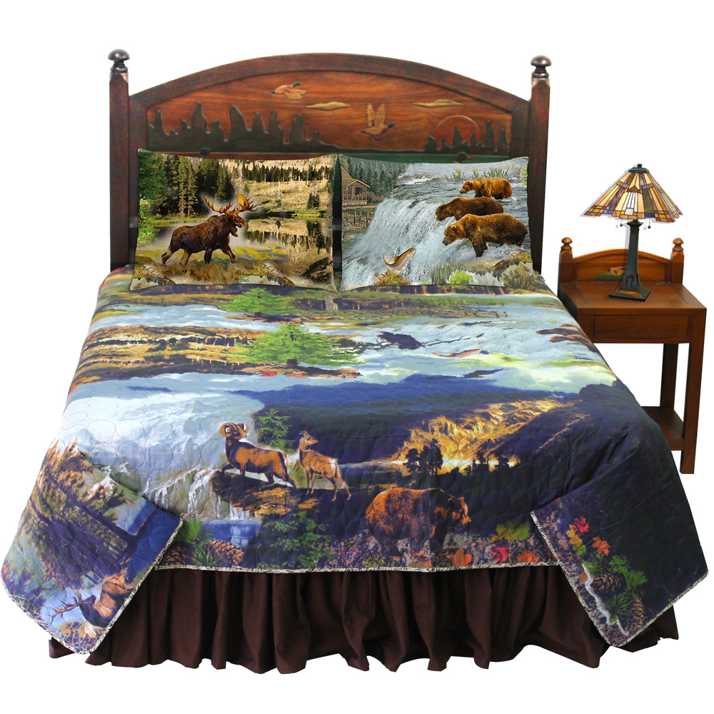 Wilderness Galore King Bed in a Bag Set of 4 Pieces