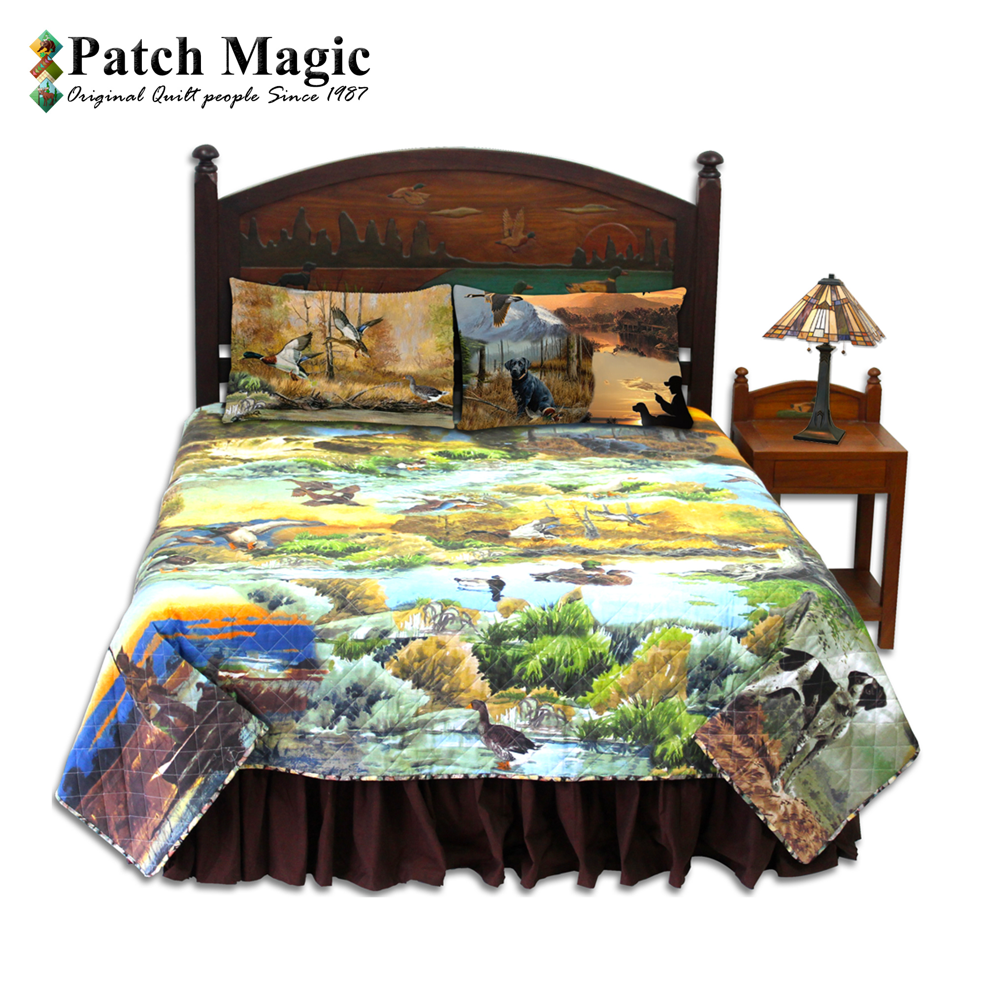 Ducks Galore Luxury King Bed in a Bag Set of 5 Pieces