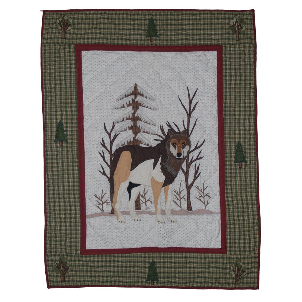 "Call of the Wild Crib Quilt 36""W x 46""L"