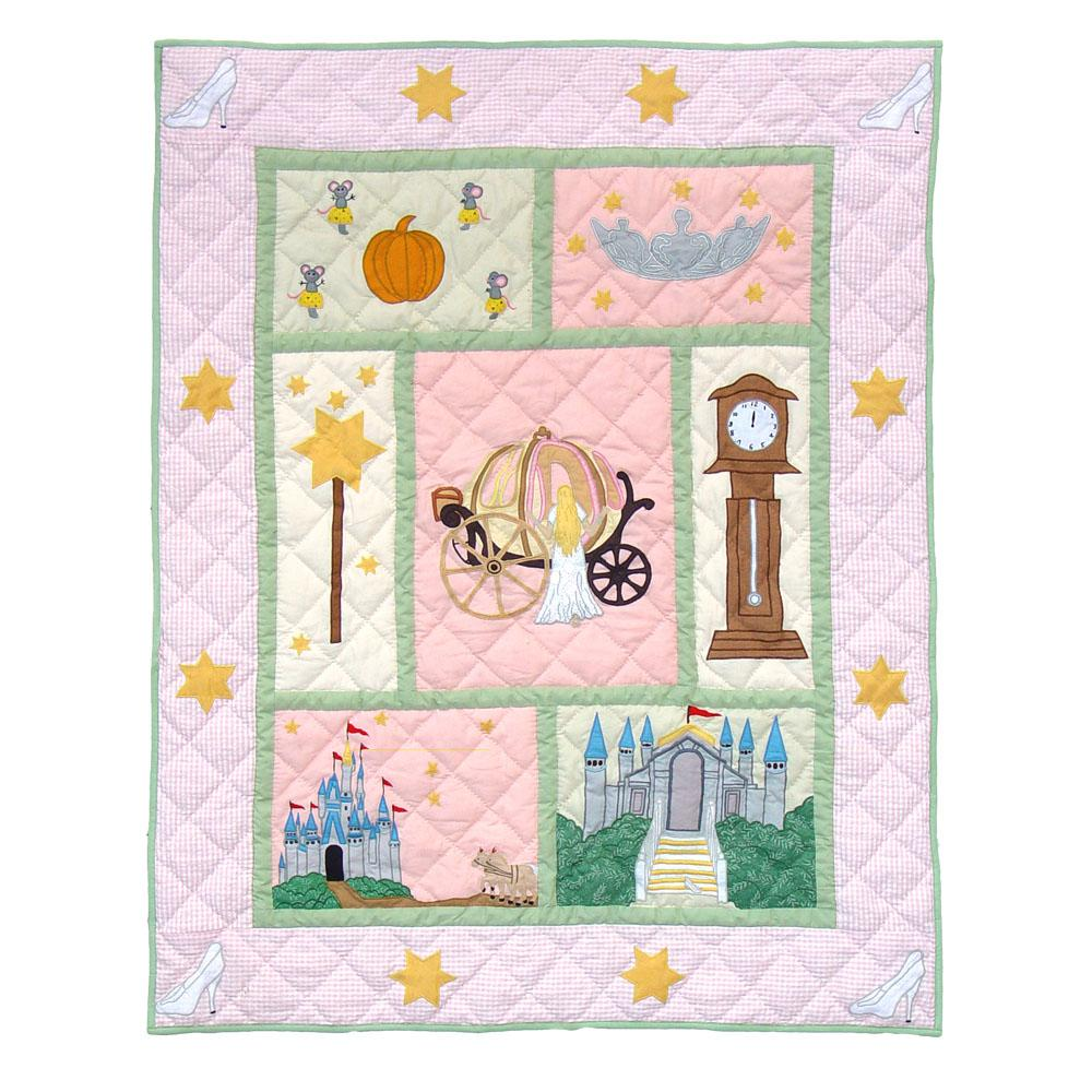 "Fairy Tale Princess Crib Quilt 36""W x 46""L"