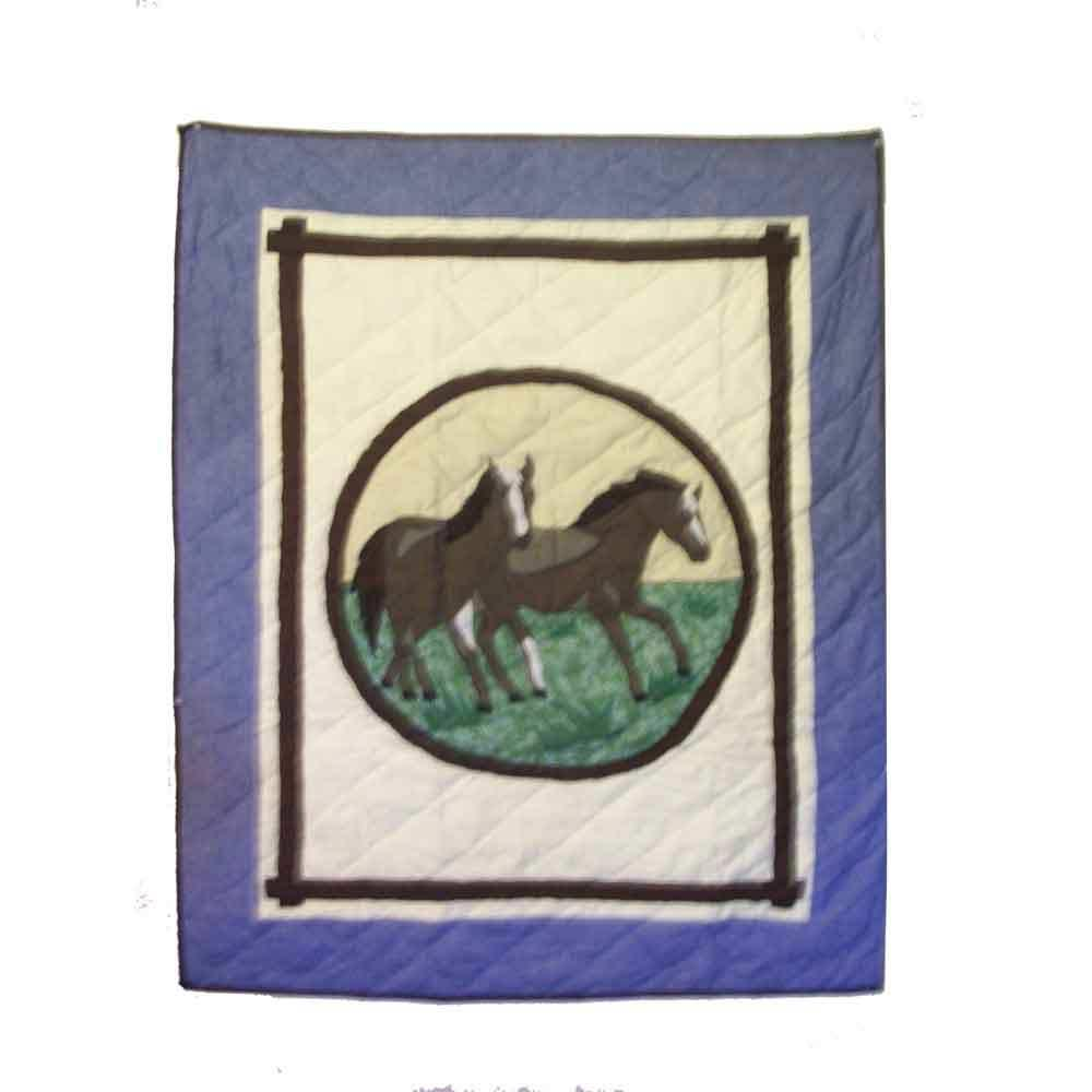 "Horse Friends Crib Quilt 36""W x 46""L"