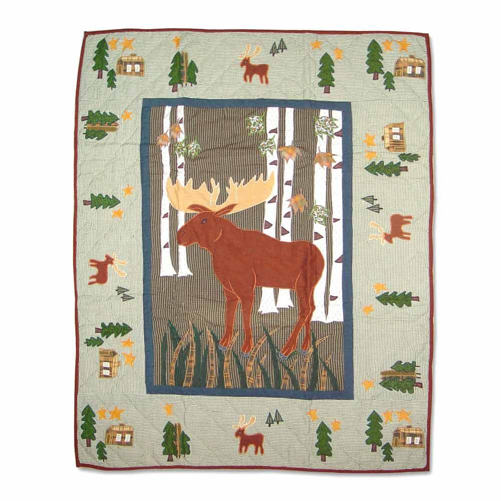 "Moose Crib Quilt 36""W x 46""L"