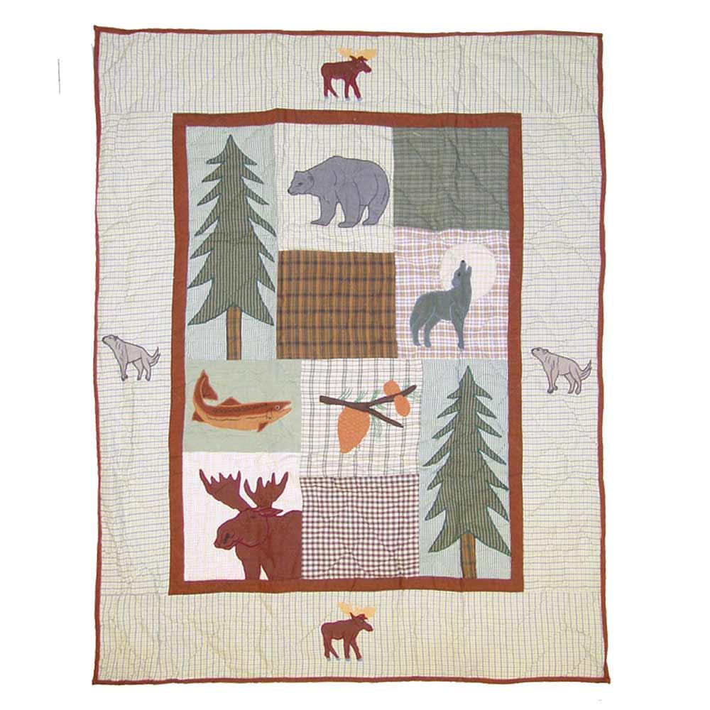 "Mountain Whispers Crib Quilt 36""W x 46""L"