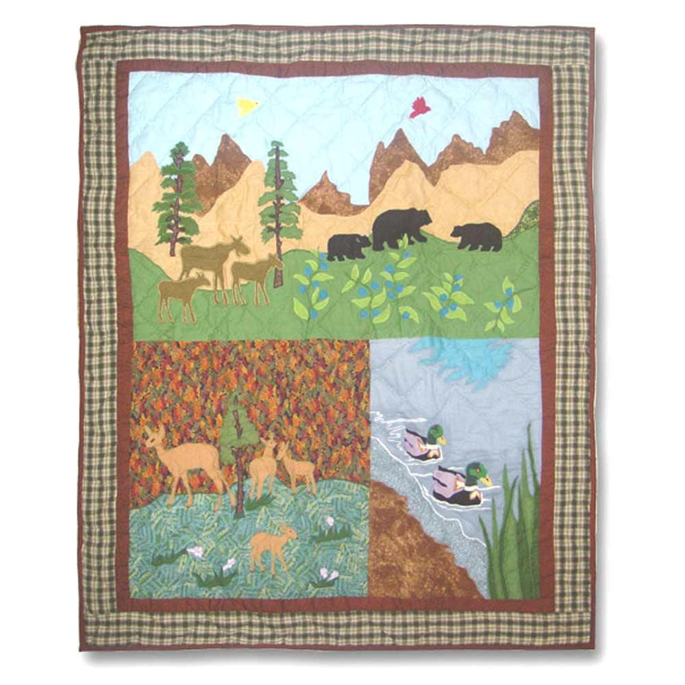 "Nature Splendor Crib Quilt 36""W x 46""L"