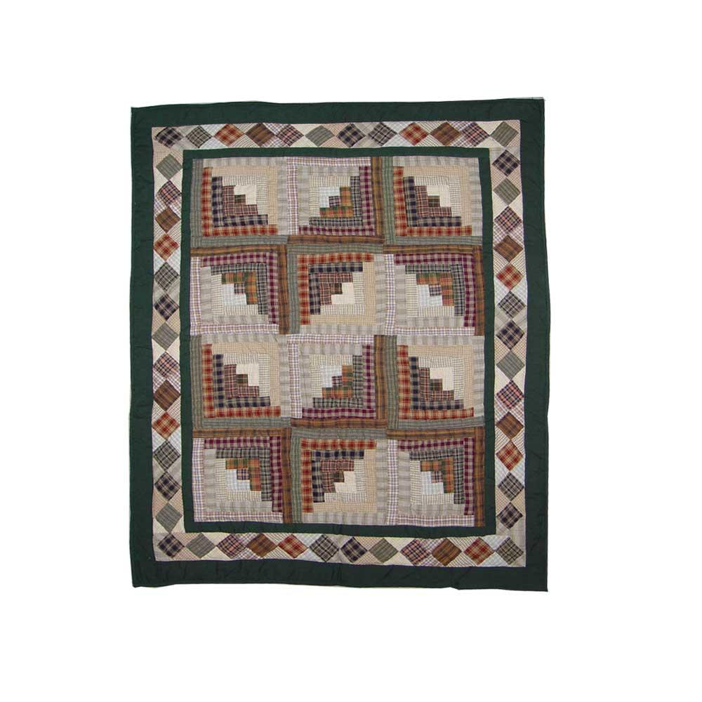 "Peasant Log Cabin Baby Quilt 36""W x 46""L"