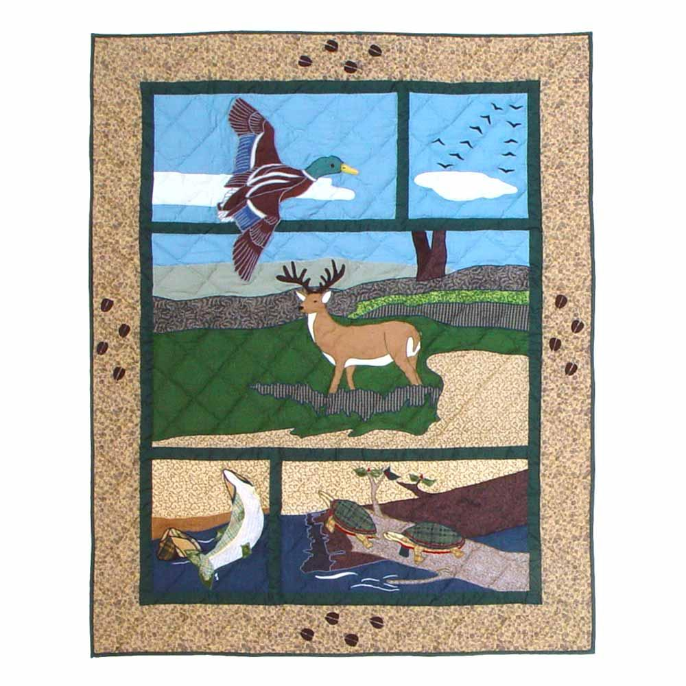 "Wilderness Crib Quilt 36""W x 46""L"