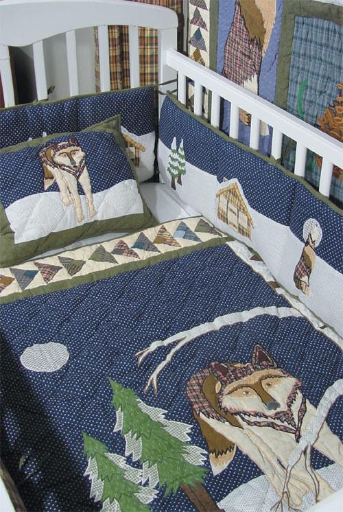 """Wolf Crib Quilt 36""""W x 46""""L"""
