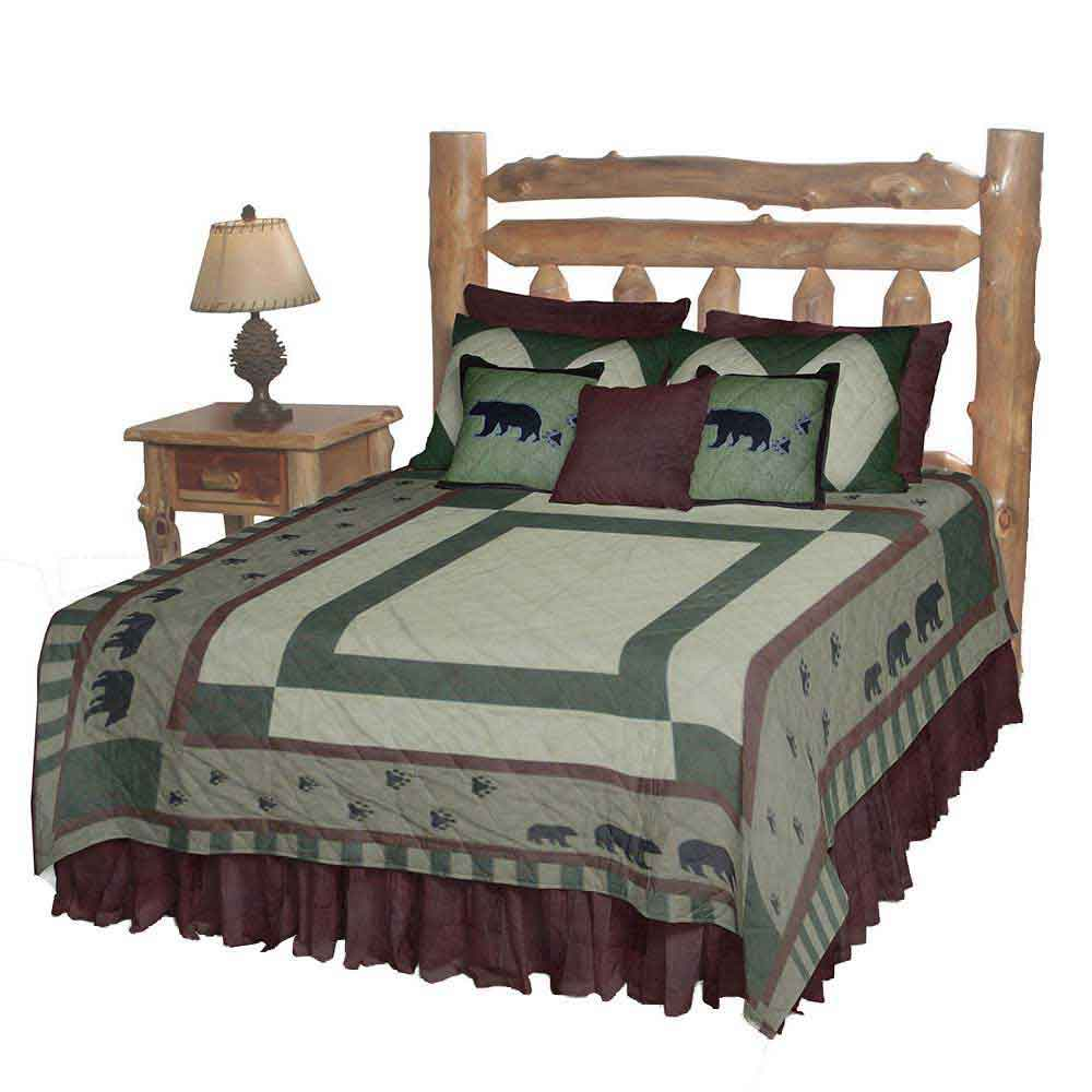 "Bear Trail King Quilt 105""W x 95""L"