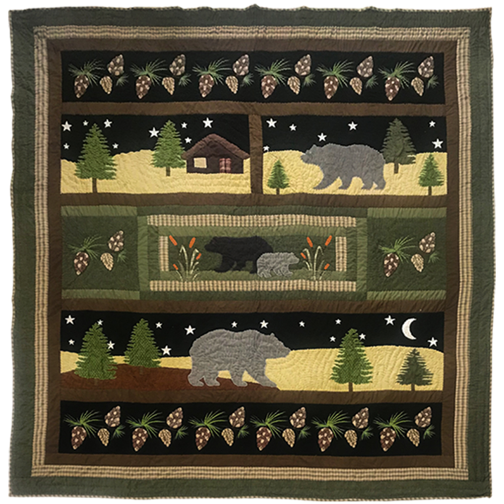 "Black Forest  King Quilt 105""W x 95""L"