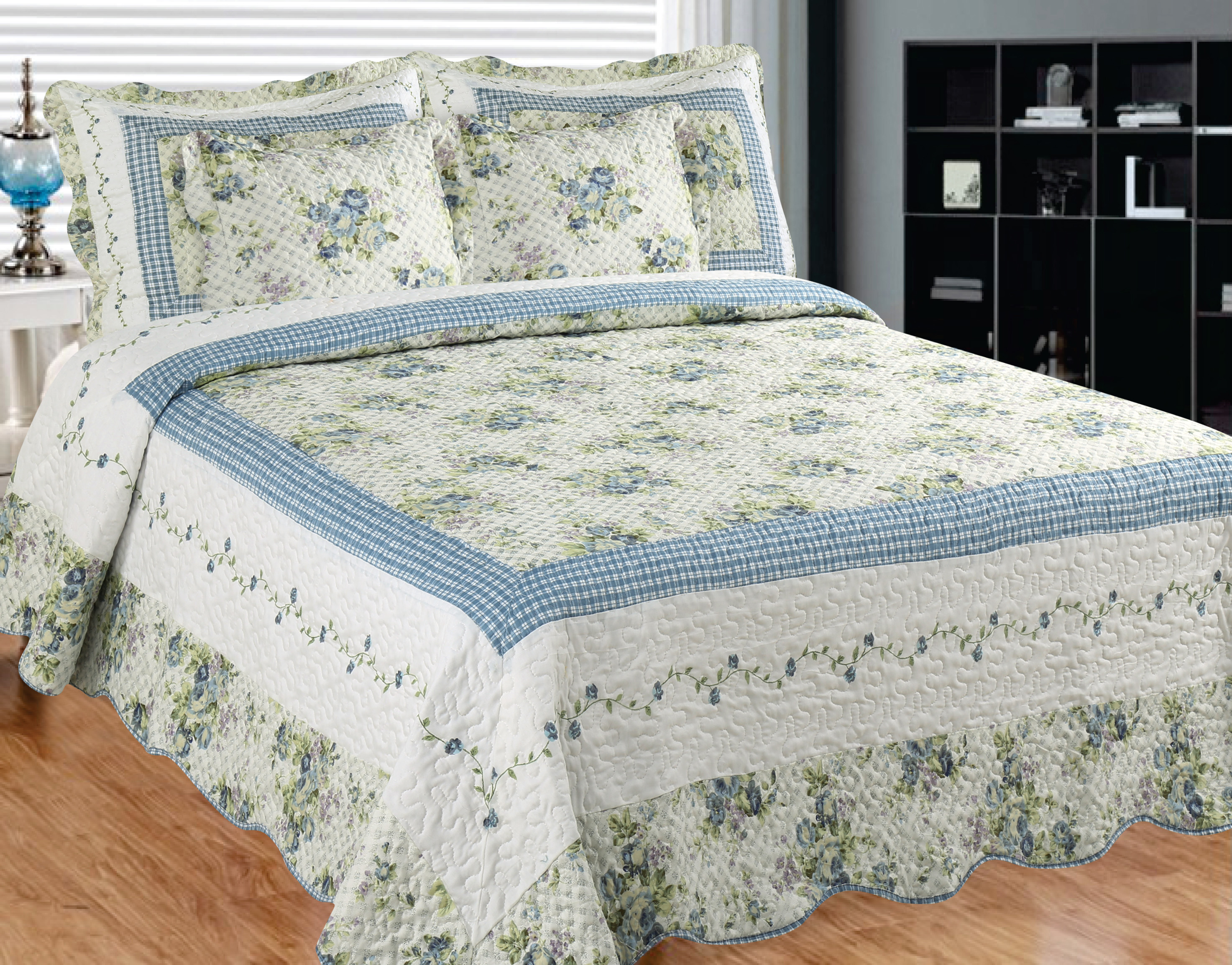 Mayflower Dawn king quilt-108*92 with 2 ps