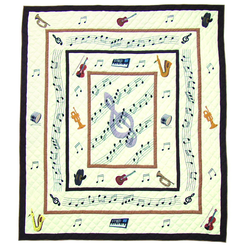 "Music King Quilt 105""W x 95""L"