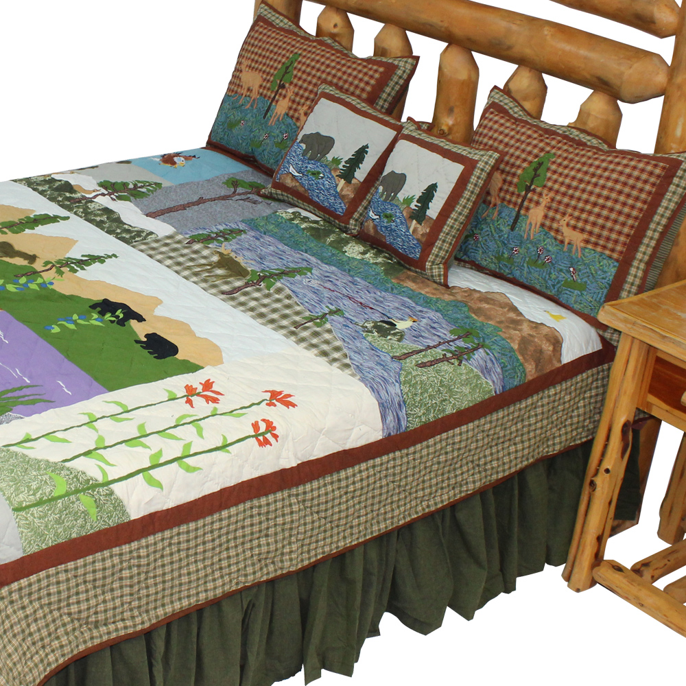 "Natures Splendor King Quilt 105""W x 95""L"