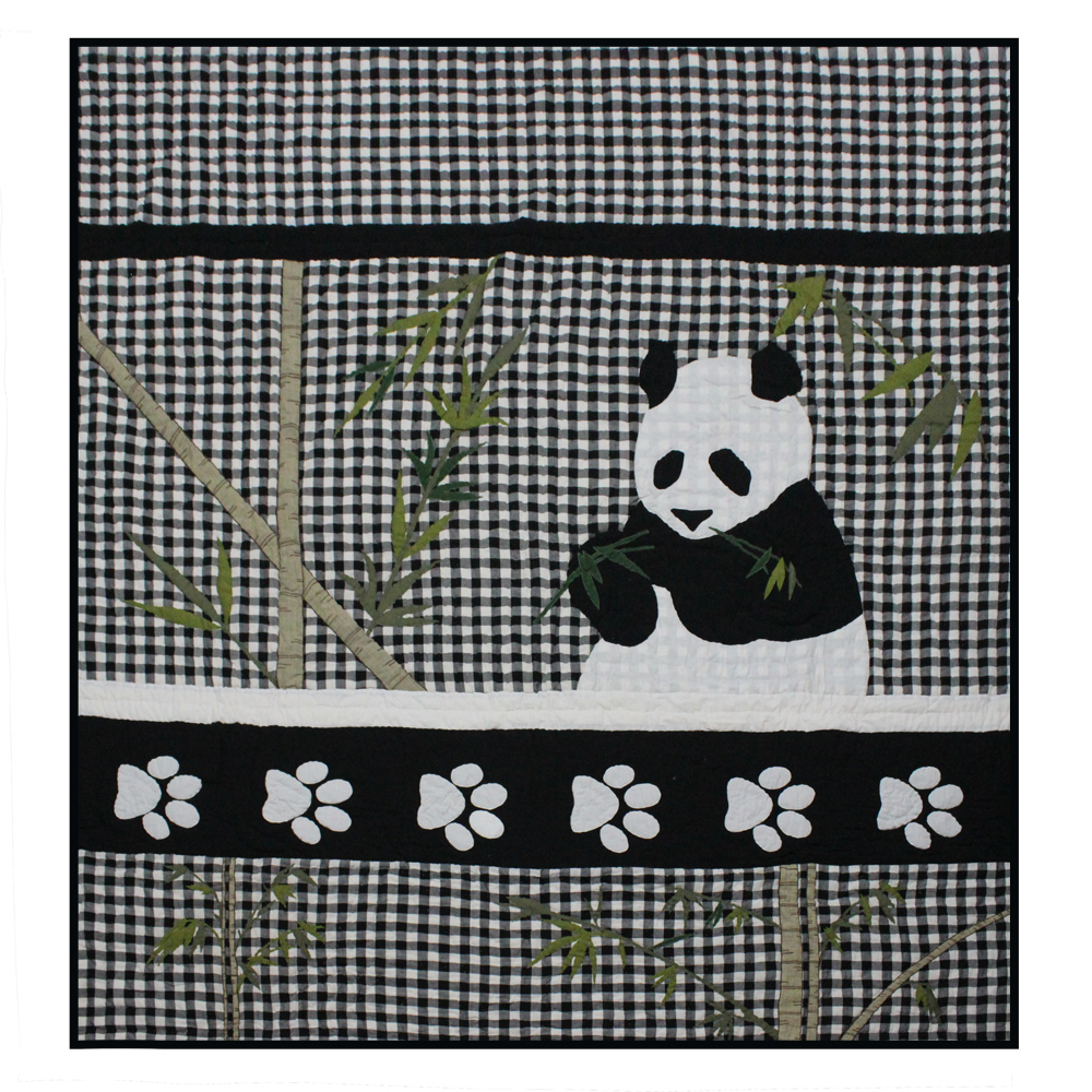 "Panda King Quilt 105""W x 95""L"