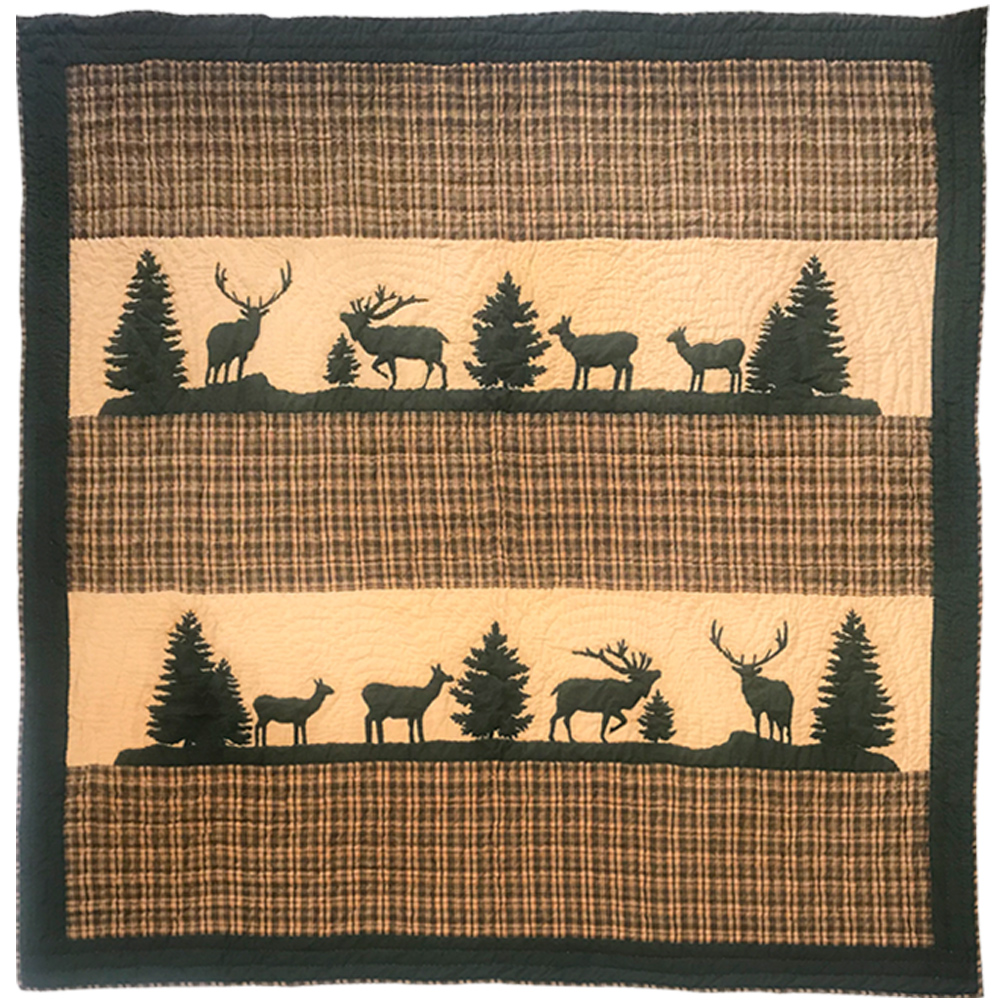 "Rocky Mountain Elk  King Quilt 105""W x 95""L"