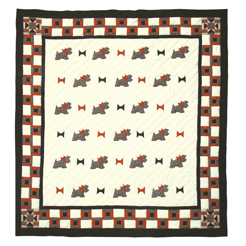 "Scottie King Quilt 105""W x 95""L"