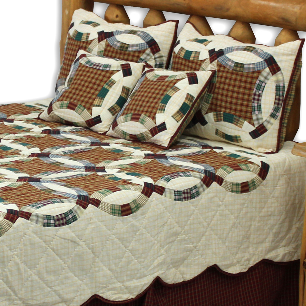 "Woodland Ring King Quilt 105""W x 95""L"